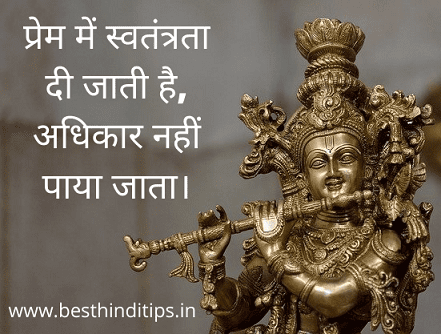 Lord krishna quote for love in hindi