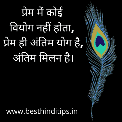 Quotes of krishna in hindi for love